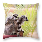 Breakfast Guests Throw Pillow
