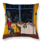 Breakfast In Capri Throw Pillow