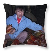 Breakfast In China Throw Pillow
