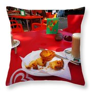 Breakfast In Portugal Throw Pillow