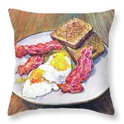 Breakfast Is Served Throw Pillow