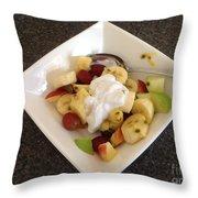 Fruit Salad For Breakfast  Throw Pillow