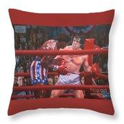 Breakin' Ribs - Rocky Throw Pillow
