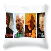 Breaking Bad Polygons - 496 Throw Pillow