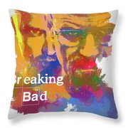 Breaking Bad Watercolor Throw Pillow