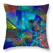Breaking Borders Throw Pillow
