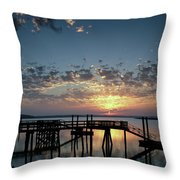 Breaking Clouds Throw Pillow