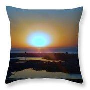 Breaking Dawn In The Big Ac Throw Pillow