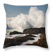 Breaking On The Shore Throw Pillow