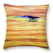 Breaking Swell Two  Throw Pillow