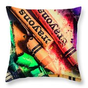 Breaking The Creative Spectrum Throw Pillow