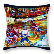 Breaking  The Ice Throw Pillow