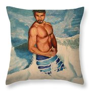 Breaking The Wave Throw Pillow