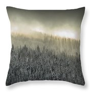 Breaking Through The Darkness Throw Pillow