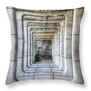 Breaking Through The Forth Wall Throw Pillow