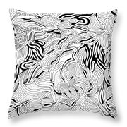 Breaking Up Throw Pillow