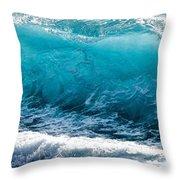 Breaking Wave At Kekaha Beach Throw Pillow
