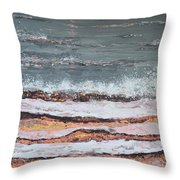 Breaking Waves #3 Throw Pillow