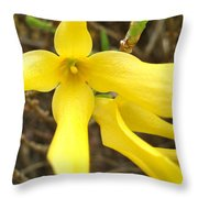 Breakout In Yellow 1 Throw Pillow