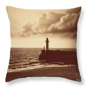 Breakwater At Sete Throw Pillow