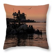 Breakwater Sunset Throw Pillow