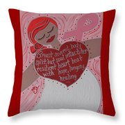 Breast Cancer Goddess Throw Pillow