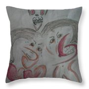 Breast Cancer Monster Throw Pillow