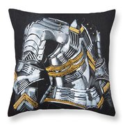Breast Plate Throw Pillow