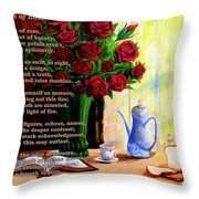 Breath Of Rose Throw Pillow
