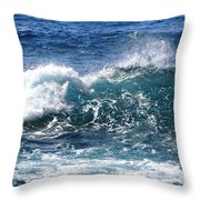 Breathe Like Water Kashmir Blue Sapphire Throw Pillow