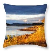 Breathing The Autumn Air Throw Pillow