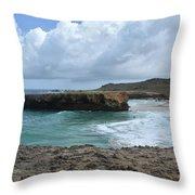 Breathtaking Boca Keto Beach On The Island Of Aruba Throw Pillow