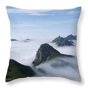 Breathtaking View From Rochers De Naye Throw Pillow