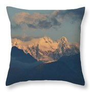 Breathtaking View Of The Italian Alps With A Cloudy Sky  Throw Pillow