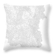 Breckenridge Mountain Art Print Contour Map Of Breckenridge Moun Throw Pillow