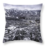 Breckenridge Ski Area Throw Pillow by Bitter Buffalo Photography
