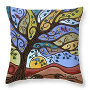 Breeze Among The Branches Throw Pillow