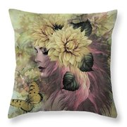 Breeze Blowing With Fragrance Throw Pillow