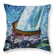 Breeze On Sails -2  Throw Pillow