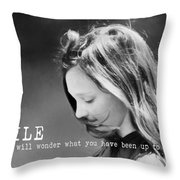 Breeze Quote Throw Pillow