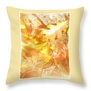 Breezy Leaves Throw Pillow