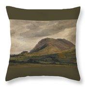 Breidden Hill In The Welsh Borders Throw Pillow