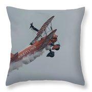 Breitling Biplane Throw Pillow
