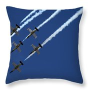 Breitling Team Crowd Pleases At Reno Air Races Throw Pillow
