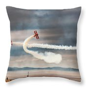 Breitling Wingwalker Biplanes Throw Pillow