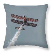 Breitling Wingwalker Throw Pillow
