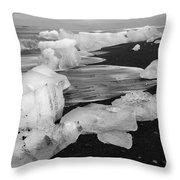 Brethamerkursandur Iceberg Beach Iceland 2319 Throw Pillow