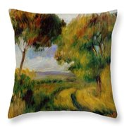 Breton Landscape Trees And Moor 1892 Throw Pillow