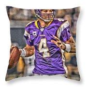 Brett Favre Minnesota Vikings Throw Pillow