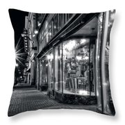 Brewery And Boutique In Black And White Throw Pillow